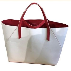 Clarins White light weight Tote.